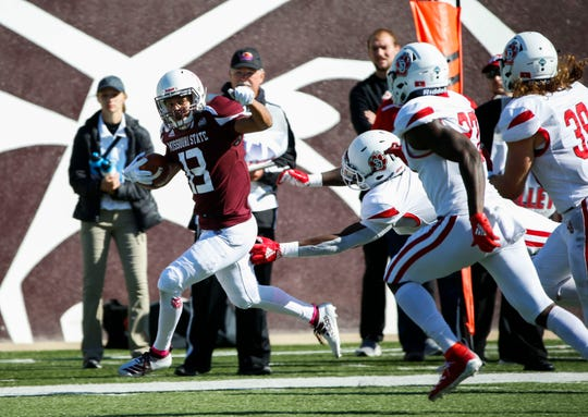 The Missouri State Bears took on the University of South Dakota Coyotes at Plaster Field on Saturday, Oct. 12, 2019.