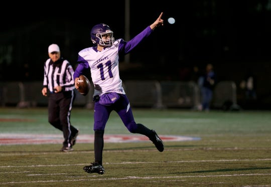 Camdenton quarterback Paxton DeLaurent delivered the game-winning touchdown against the Glendale Falcons on Friday, Oct. 11, 2019.