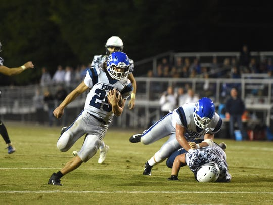 Fort Defiance's Trevor Bartley had nearly 200 yards rushing in his team's win over Staunton.