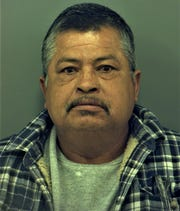 Alejandro Hernandez, 54, is accused of abandoning puppies near a dumpster on Horizon Boulevard on Sept. 2, 2019.