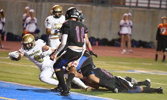St. Bonaventure's Declan Handwerker breaks the end zone to score a touchdown during the Seraphs' 34-7 loss at Westlake on Friday night.