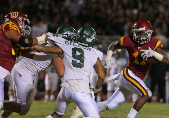 Xavier Harris ran for 1,605 yards and 24 touchdowns in his final season at Oxnard High.