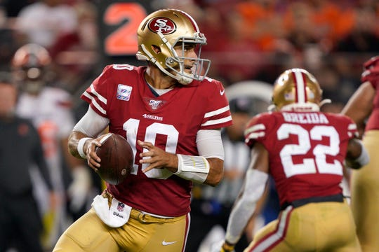 Quarterback Jimmy Garoppolo has helped lead the 49ers to a 4-0 start to the season.