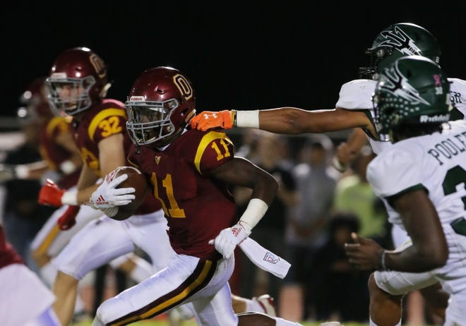 Oxnard High's Xavier Harris was named the Player of the Year for the Pacific View League.