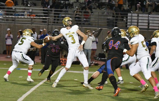 Quarterback Gavin Beerup and St. Bonaventure take on Oxnard in a Division 5 first-round game Friday night.