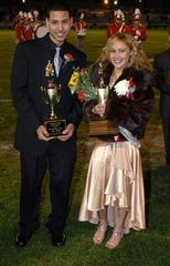 Vineland High School Homecoming king, Yadid Chaniz-Rico and queen, Chastity Velez in November 2006 photo.