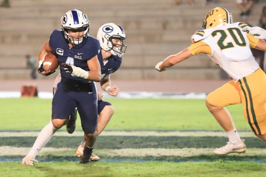 Central Valley Christian hosts Kingsburg in a Central Sequoia League high school football game at CVC Stadium on Oct 11th, 2019.