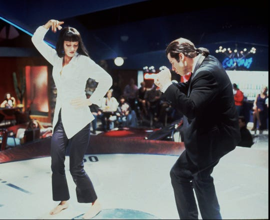 "Mia (Uma Thurman) and Vincent (John Travolta) in their famed dance scene in ""Pulp Fiction."" The night took a bad turn."