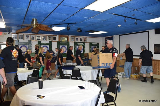 Bayville Elks members pack up supplies for Toms River Animal Shelter at their lodge