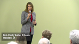 Rep. Cindy Axne talks impeachment with Trump supporters in Waukee