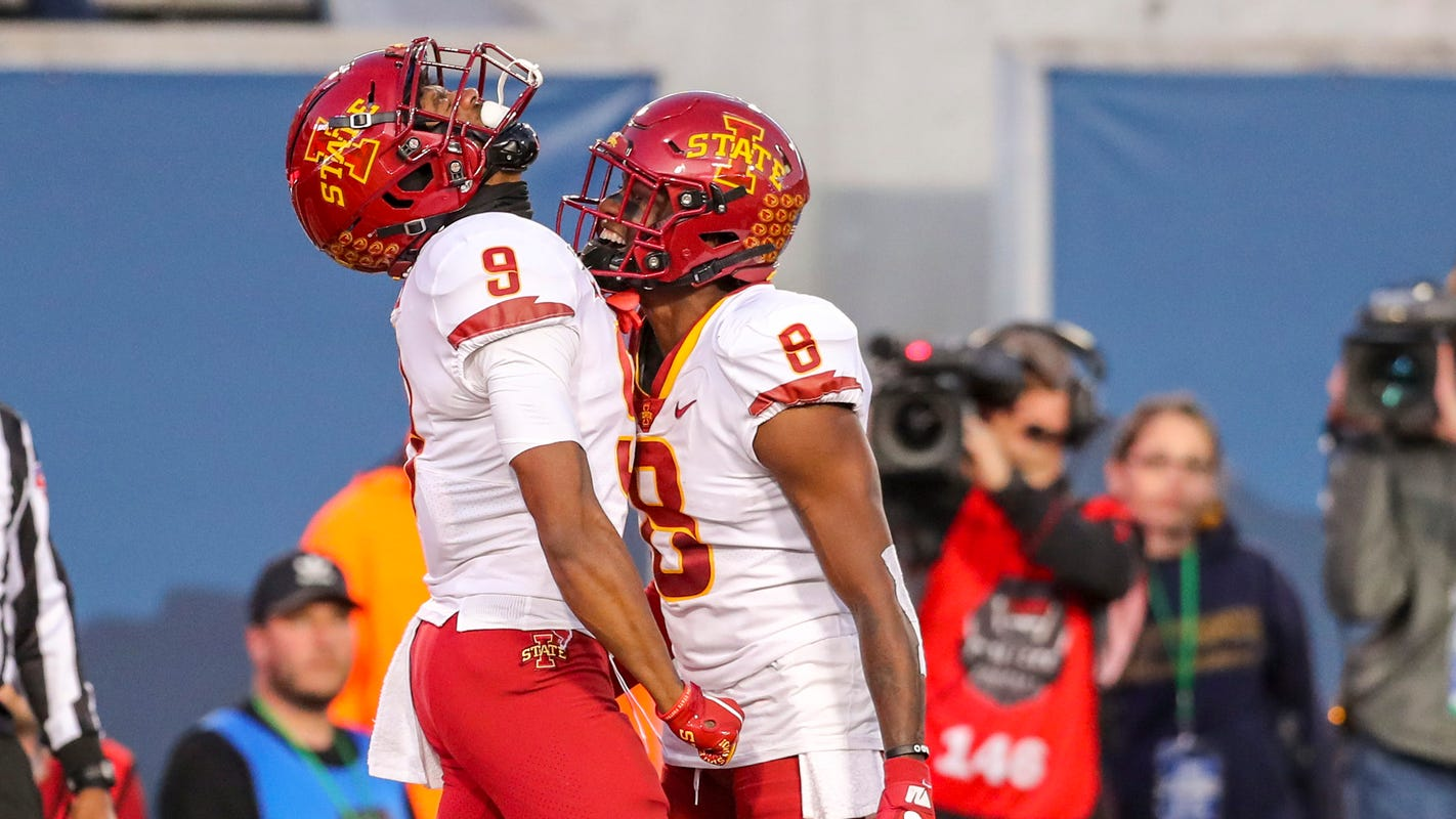 'Nobody's made more growth': Matt Campbell shares special moment with Iowa State wide receiver in West Virginia win