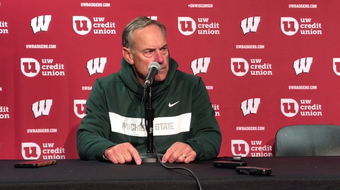 MSU coach Mark Dantonio said questions about his coaching moves weren't fair seven games into the season after MSU was shut out at Wisconsin.