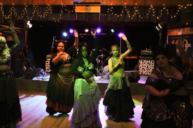Darkly Sparkly Belly Dancers at annual Witch Ball hosted by the Red Hills Pagan organization on  Saturday October 12th at the American Legion.