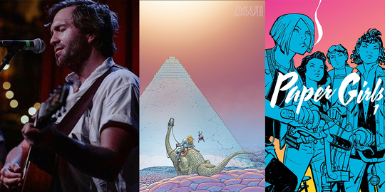 "Penny & Sparrow perform in Kansas City, M83's new album cover and the cover of ""Paper Girls,"" illustrated by Cliff Chiang and colored by Matt Wilson."