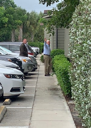 In October, Vice President Mike Pence was seen waving as he entered Sanibel Community Church Sunday for the 11 a.m. services. It was Pence's third visit to Sanibel in 2019 and his fourth since Easter.