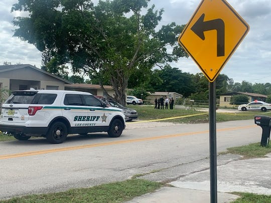 A large number of Lee County Sheriff's Office units had a portion of Maple Drive at Second Avenue closed in the Pine Manor section of south Fort Myers Sunday afternoon.