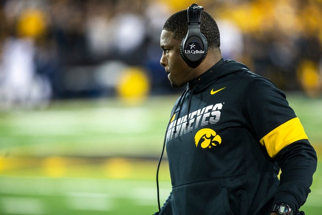 Derrick Foster has been Iowa's running backs coach for the past three seasons.
