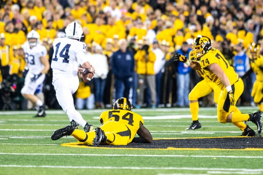 Iowa couldn't make enough big plays to beat Penn State in a 17-12 loss.