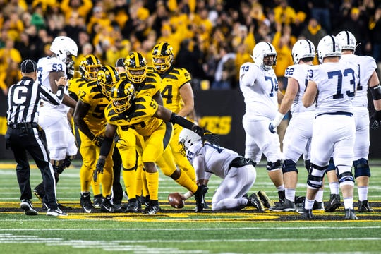 iowa's defense has spent a lot of time on the field since the beginning of October.