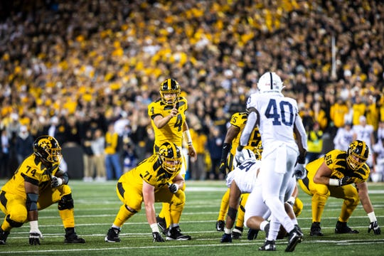 Iowa's offense being held to 12 points against Penn State was largely a result of offensive-line deficiencies, but quarterback Nate Stanley did miss some important throws, too.