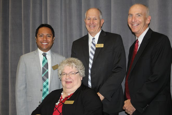 Lafayette Jefferson High School added four graduates to its Hall of Fame on Friday,  Oct. 11, 2019, including, clockwise from front, Marilyn Hughes Frantz, Francisco Javier Ramirez, Gary Henriott and William Niemantsverdriet. The school has put more than 100 of its alumni in the Lafayette Jeff Hall of Fame since starting the program in 1994.
