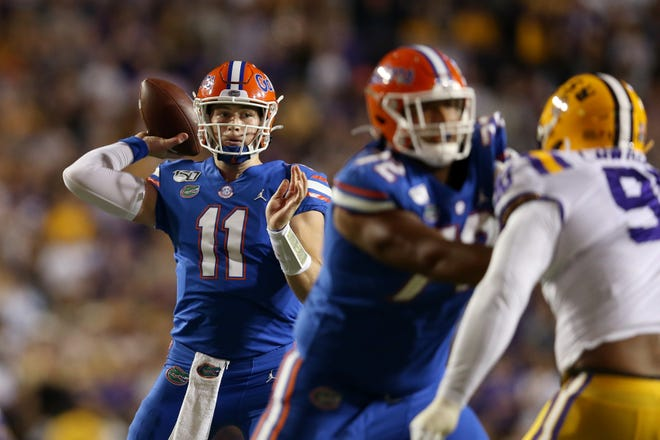 Florida quarterback Kyle Trask will lead the Gators against LSU on Saturday night at The Swamp.
