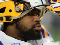 Jan 1, 2019; Glendale, AZ, USA; LSU Tigers running back Clyde Edwards-Helaire (22) looks on prior to the 2019 Fiesta Bowl against the UCF Knights at State Farm Stadium.