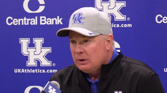 Kentucky football coach Mark Stoops' postgame news conference following the Wildcats' 21-0 loss at Georgia on Oct. 19, 2019.