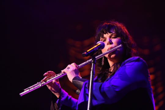 "Ann Wilson performs at a previous stop of Heart's ""Love Alive"" tour. Press photography was not permitted at their Fiserv Forum show Saturday."
