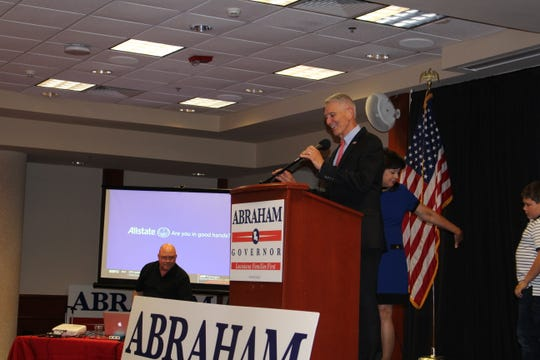 Ralph Abraham makes a concession speech at the end of his watch party at University of Louisiana Monroe.