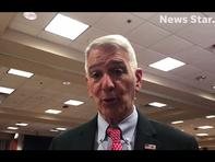 Ralph Abraham discusses endorsing Eddie Rispone in Louisiana Governor's race.