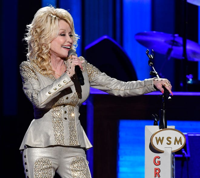Dolly Parton performs at her 50th Opry Member Anniversary at the Grand Ole Opry