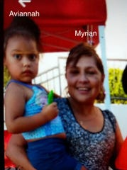 Aviannah Maynes, 3, was reported missing Sunday, Oct. 13, 2019. She may be with her grandmother, Myrian Rocha-Bastidos
