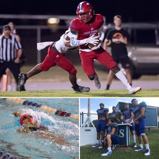 Pine Forest's Dacarrion McWilliams (top), Washington's Sara Lypko (bottom left) and Jay's Judd Smith  (bottom left) are among the nominees for PNJ Athlete of the Week.