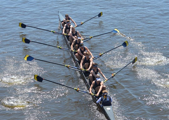 Marysville native Jeremy Latham is a sophomore on the University of Michigan men's rowing team this school year.
