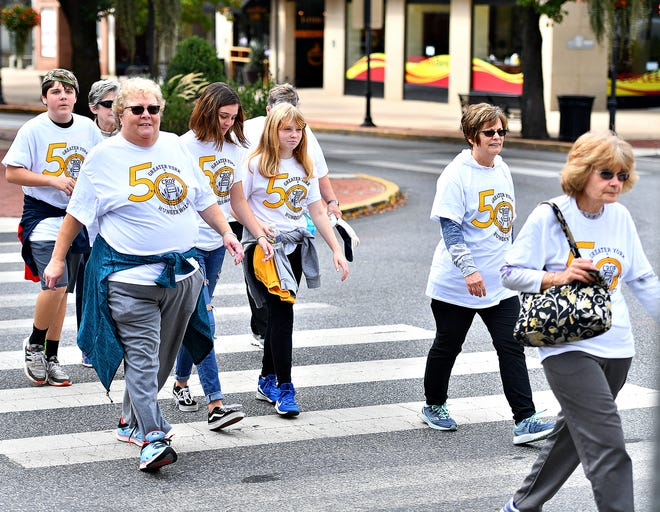 The 50th annual Greater York CROP Hunger Walk culminates in York City, Sunday, Oct. 13, 2019. Dawn J. Sagert photo