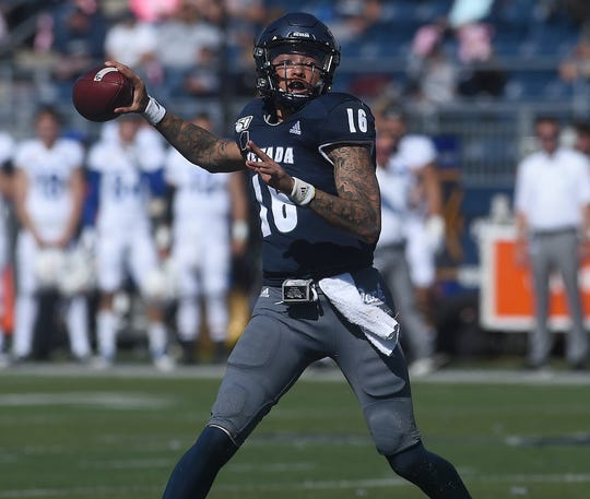 Nevada's Malik Henry looks to pass against San Jose State on Saturday. He threw for 352 yards in his starting debut.