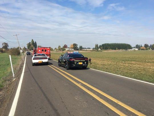 Deputies respond to a fatal crash on 55th Avenue NE on Sunday, Oct. 13, 2019.