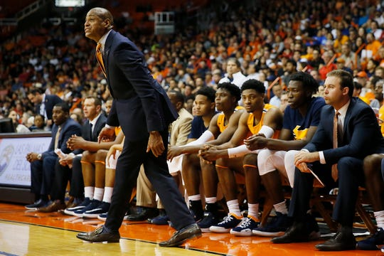 UTEP head coach Rodney Terry during the game against Texas Tech Saturday, Oct. 12, at the Don Haskins center in El Paso.