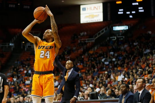 UTEP's Daryl Edwards attempts to score against Texas Tech during the game Saturday, Oct. 12, at the Don Haskins center in El Paso.