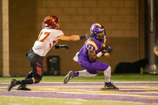Junior receiver Jajuan Thomas caught six passes for 214 yards and two touchdowns in Cal Lutheran's 37-7 homecoming win over Claremont-Mudd-Scripps on Saturday night.