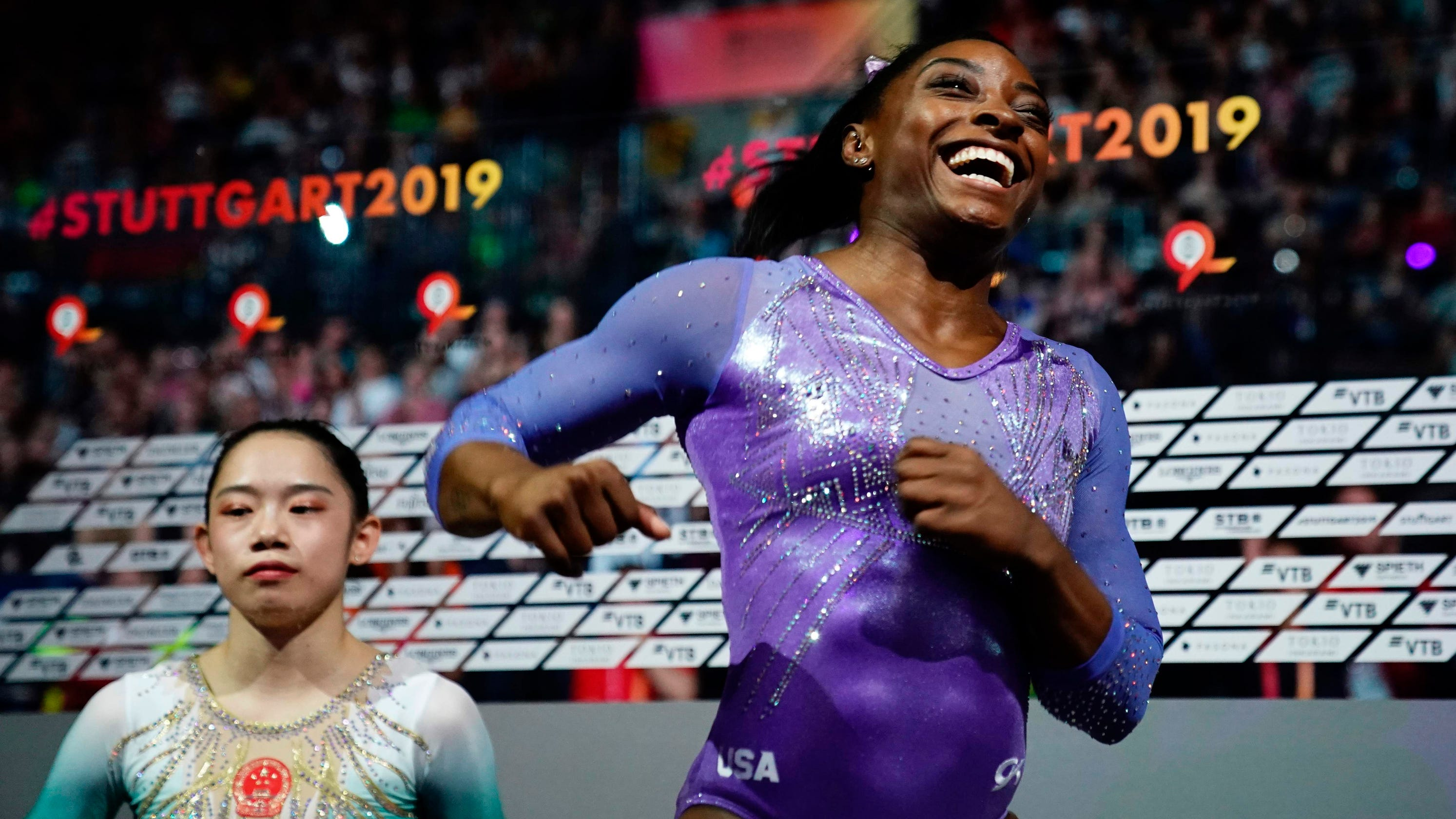 Simone Biles becomes most-decorated gymnast, male or female, at the world championships – USA TODAY