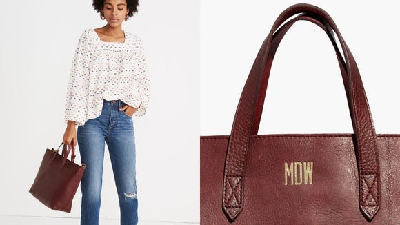 Best personalized gifts 2019: Madewell Zip-Top Transport Tote