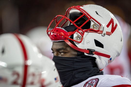 It's been a rough road for Nebraska Jahkeem Green (4) and the Cornhuskers.