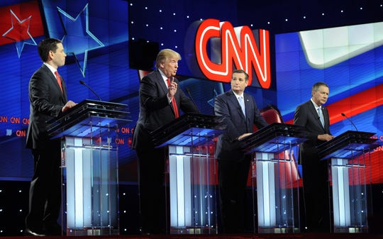 GOP primary debate in Miami, Florida, on March 10, 2016.