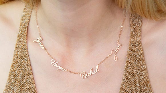 Best personalized gifts 2019: Family name necklace