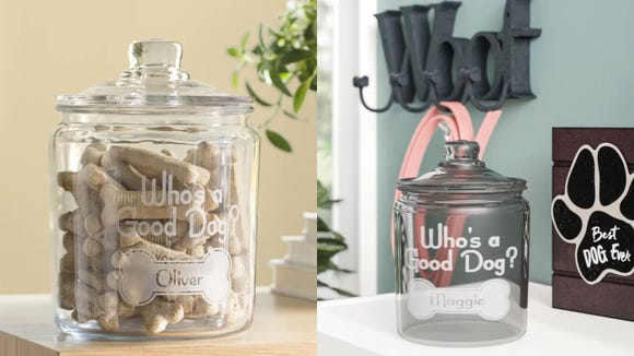 Best personalized gifts 2019: Archie & Oscar Personalized Who's a Good Dog Pet Treat Jar
