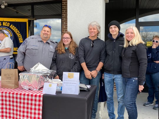 Jon Bon Jovi at the 5th annual JBJ Soul Kitchen Chili Cook-Off on Oct. 5 in Toms River. Here he's awarding Lanoka Harbor  First Aid for their 'Blaze of Glory' chili.