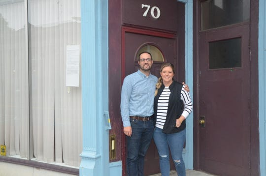 Jeff and Sarah Versical purchased the building at 70 E. Michigan Ave. in May to renovate into affordable housing apartments.