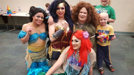 The Jewish Community Center of Binghamton will be holding a drag storytime event, titled Not Your Bubbe's Storytime, Sunday. A similar event, pictured here, was held at the Broome County Public Library in January of 2018.